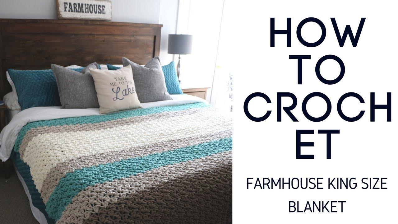 Farmhouse King Size Blanket Youtube