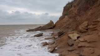Sevastopol beach ~ Storm.  Belbek. Crimea. Nature relaxation