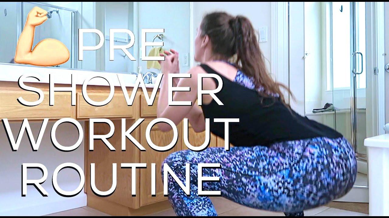 shower-workout-routine-everyday-model-workout-cassandra-bankson