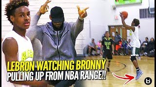 Lebron James Watches Bronny Jr PULL UP From NBA RANGE & Go Off! NCBC Dominate Dru Joyce!!