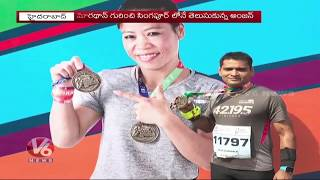 My Marathon Journey - Anjan Interview with V6 Telugu News Channel on 26 Aug 2019