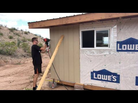 12'x24' DIY Shed Build (Part 8 – Siding Install)