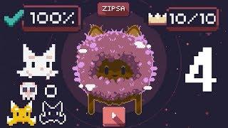 Cat Bird World 4 Zipsa - All Crowns & Skins 100% - Gameplay Walkthrough (iOS/Android)