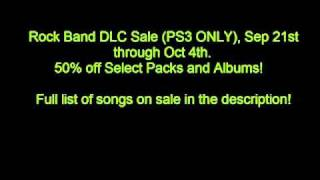 ROCK BAND DLC SALE (PS3 ONLY)