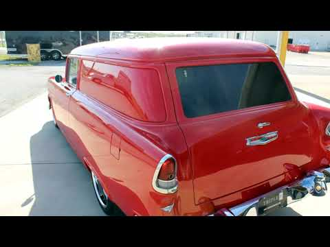 55 Red Chevrolet Sedan Delivery