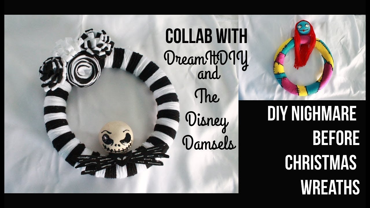 DIY Nightmare Before Christmas Inspired Wreaths- COLLAB WITH THE ...