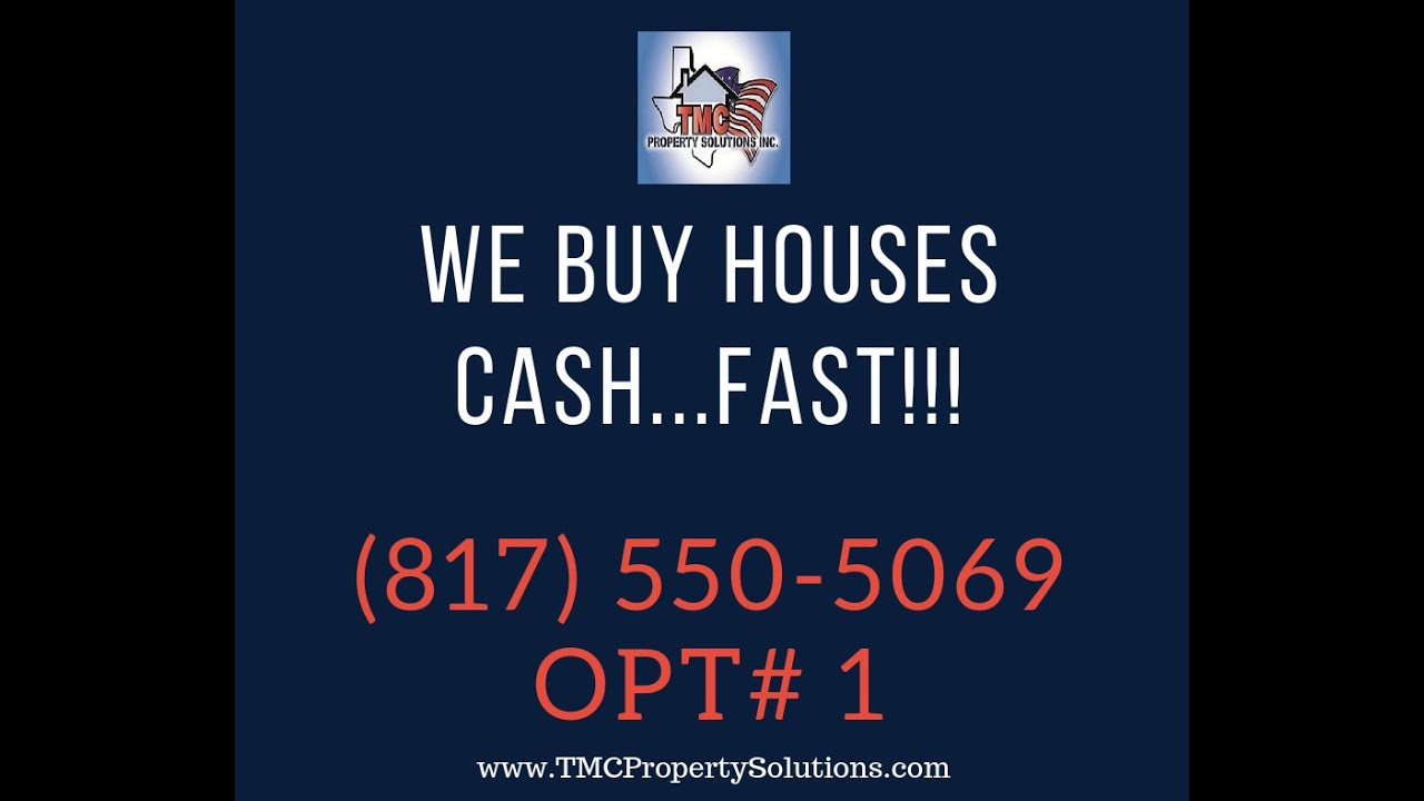 We Buy Houses Fast In Fort Worth | Call 817-550-5069
