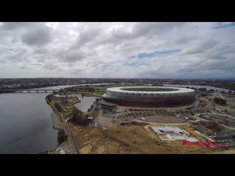 Drone footage of new Perth Stadium