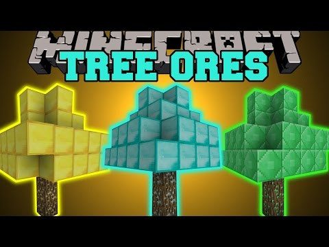 Thumbnail: Minecraft: TREE ORES (DIAMOND TREES, EMERALD TREES, GOLD TREES, & MORE!) Mod Showcase