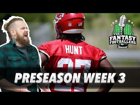 Fantasy Football 2017 - Preseason Week 3 Findings + Compliment Sandwiches - Ep. #424