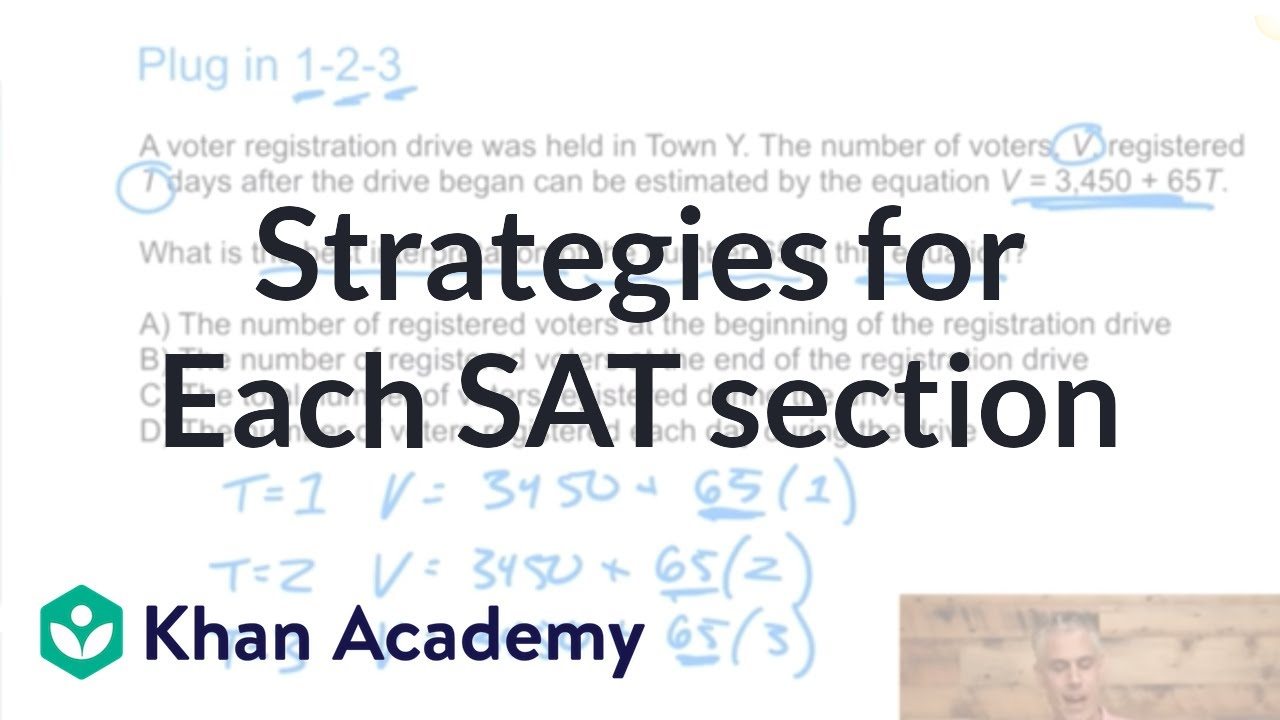 Effective strategies for each SAT section (video) | Khan Academy