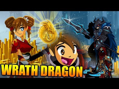 Wrath Dragon NEW Package 50% More Acs! AQW AdventureQuest Worlds