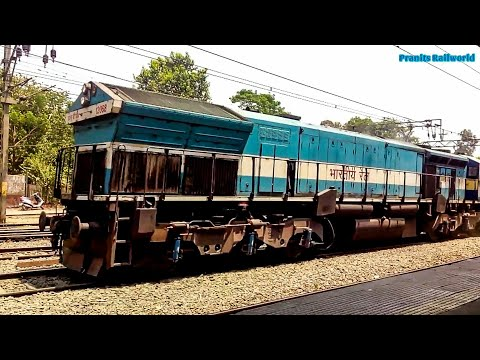 2014 & 2017 spotting of 11014 CBE-LTT Express | UBL and KJM locomotives | Indian Railways