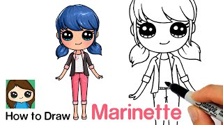 How to Draw Miraculous LadyBug Marinette Dupain-Cheng