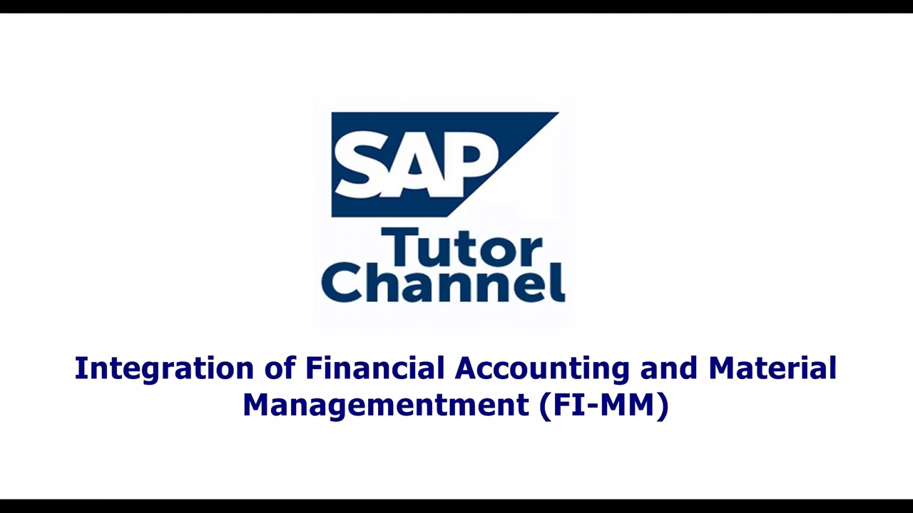 Integration of Financial Accounting and Material Managementment FI MM