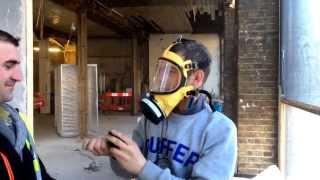 Asbestos stripper prank, talcom powder in mask filter.pay back.Paul whitehead gets pranked