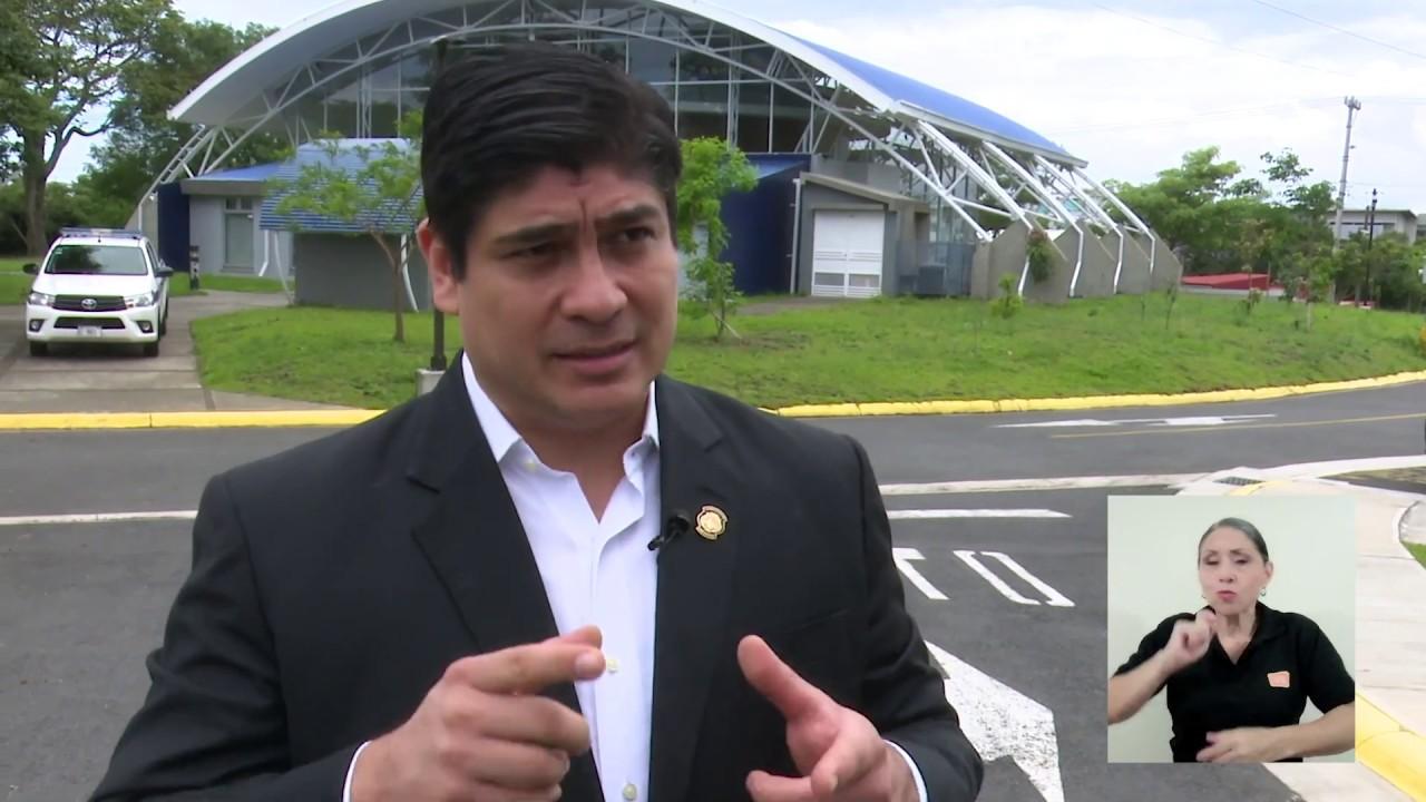 Una comitiva gubernamental, encabezada por el presidente Carlos Alvarado Quesada, conoció de …