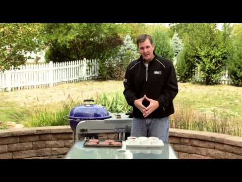 How to cook burgers on a weber charcoal grill