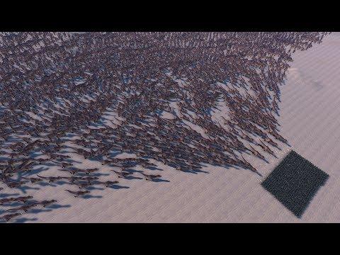 10000 MODERN SOLDIERS vs 50000 TREX - Ultimate Epic Battle Simulator  