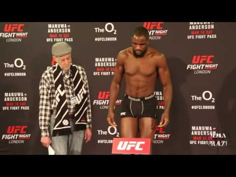 UFC Fight Night London Official Weigh in
