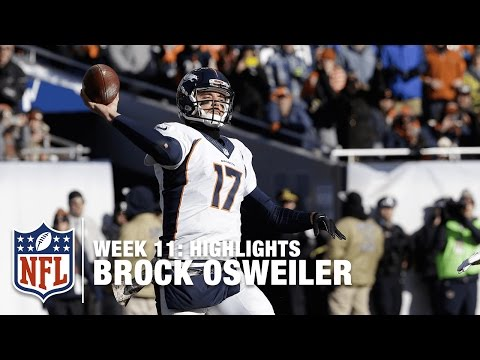 Brock Osweiler Highlights (Week 11) | Broncos vs. Bears | NFL