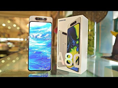 """Samsung Galaxy A80 """"FULL SCREEN DESIGN"""" UNBOXING & FIRST LOOK!"""