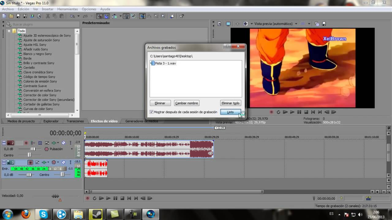 Como Usar Sony Vegas Pro 11 Tutorial 1 Menu Y Cosas Sencillas Youtube