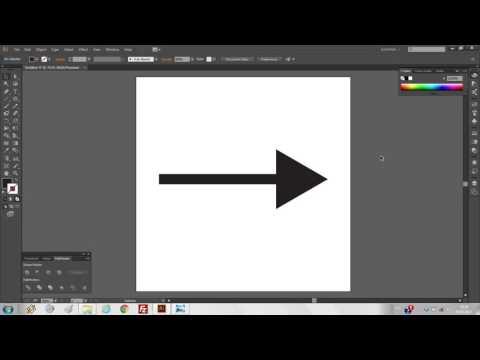 Как нарисовать стрелку в иллюстраторе и сохранить ее для стока
