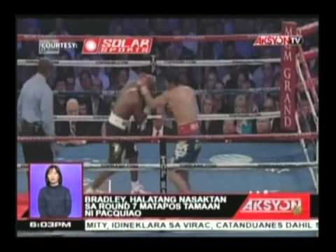 Blow by blow account ng bakbakang Manny Pacquiao at Timothy Bradley, Jr