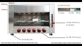 Lò nướng Salamander 6 họng gas mã sản phẩm WYG-745-Bv2   Bếp nướng không khói dùng bằng gas