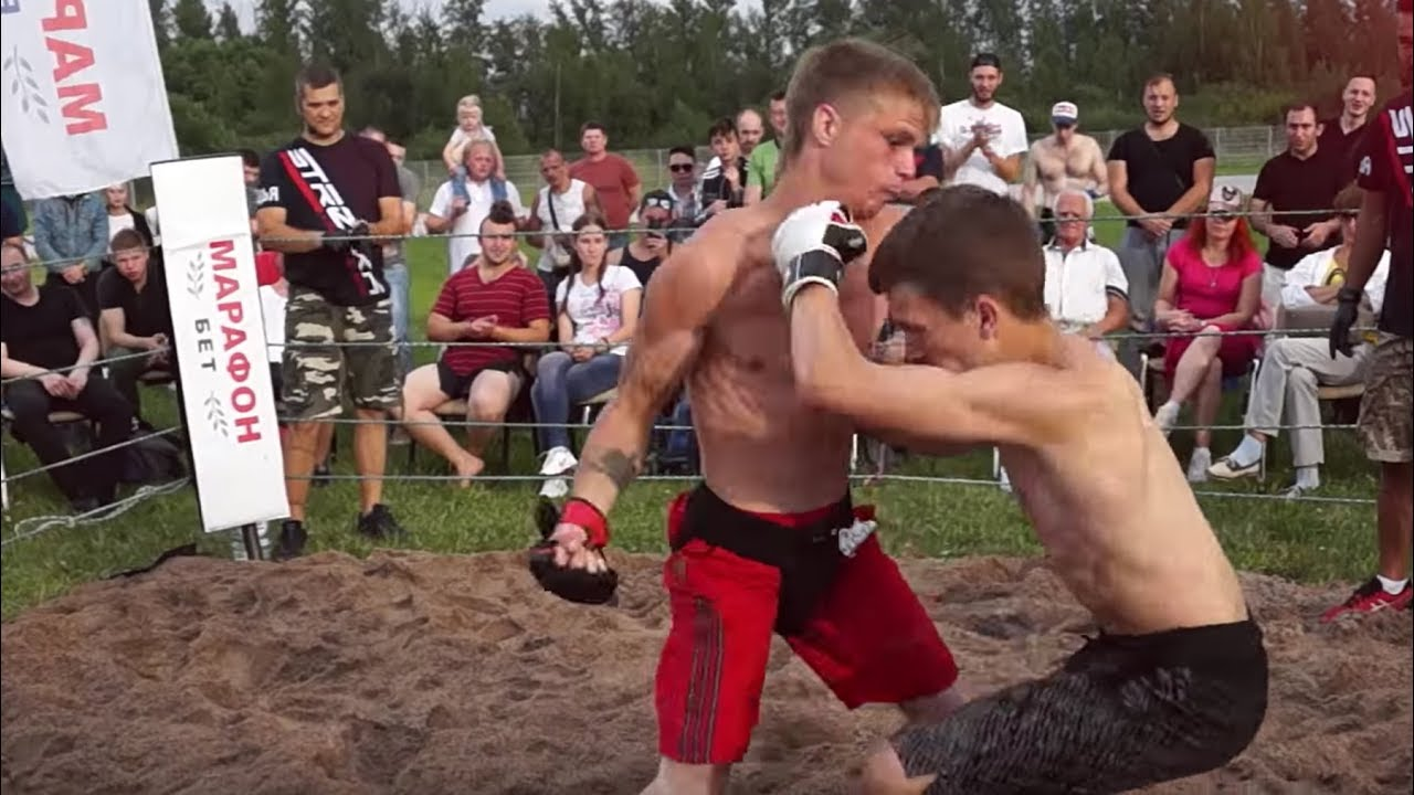 Юный Борец против Ударника ! Бой ММА !!