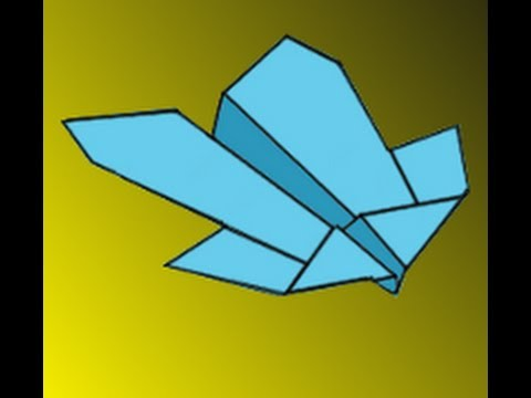 How to Make the Condor Paper Airplane Instructions Video - YouTube