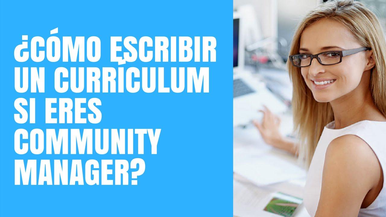 Cómo escribir un Currículum Vitae si eres Community Manager - YouTube