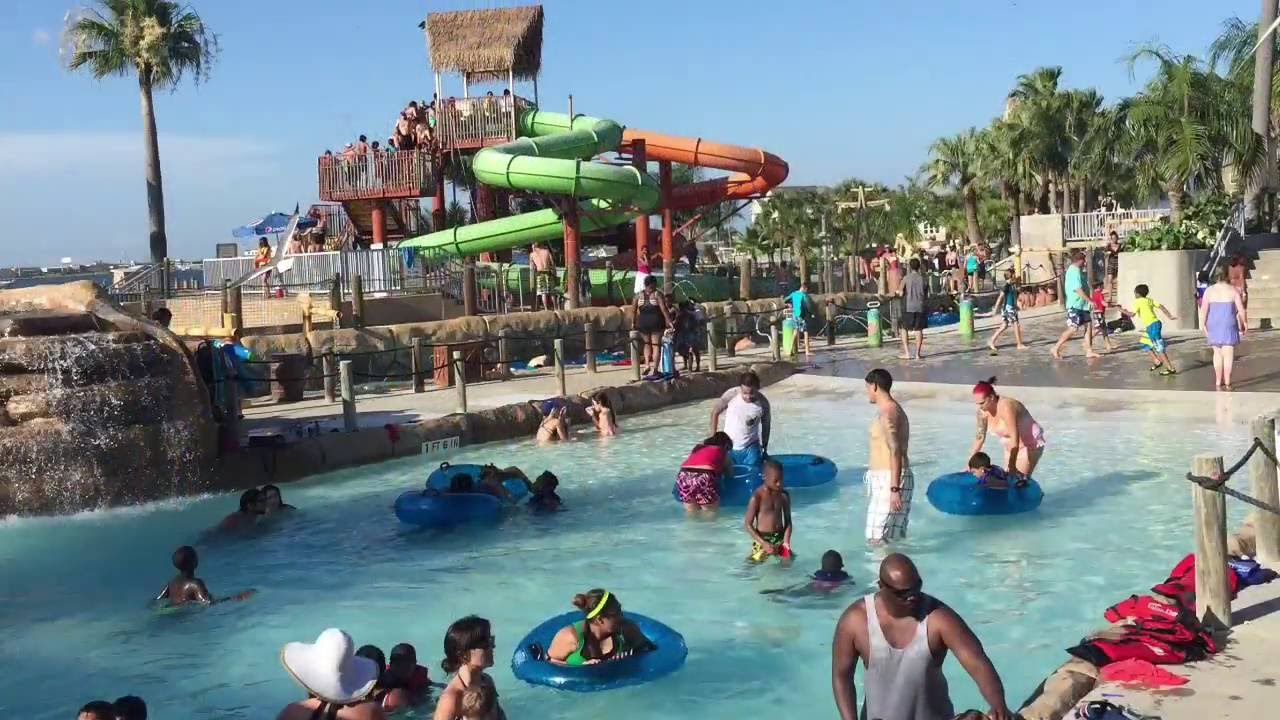 Moody Gardens Palm Beach Waterpark in Galveston TX YouTube