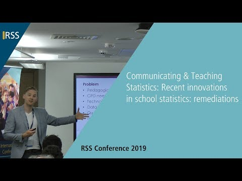 Communicating & Teaching Statistics: Recent innovations in school statistics: remediations