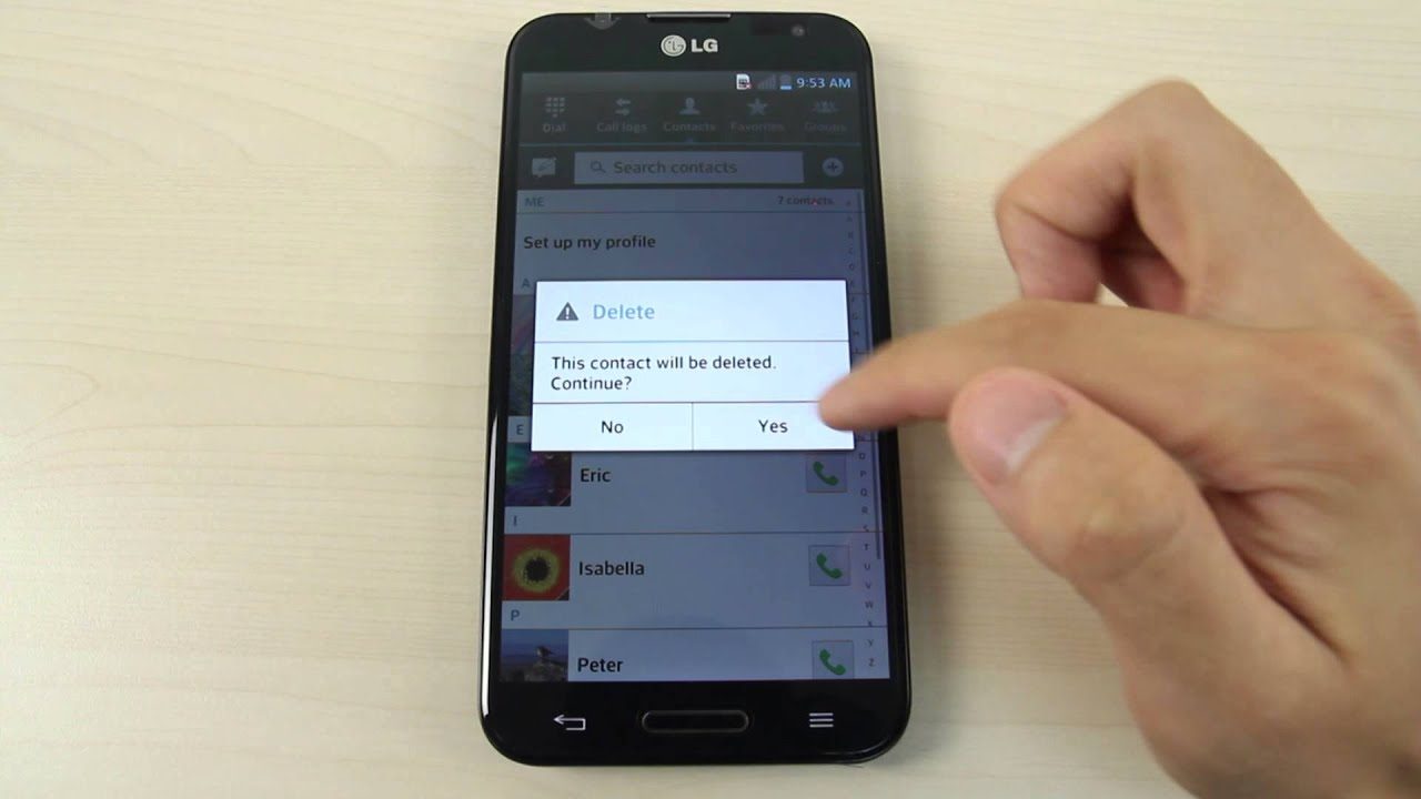 How To Add, Delete And Add A Photo To A Contact On Lg Optimus G Pro