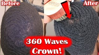 How To Get Waves Crown Method using 3WP C&B Brush