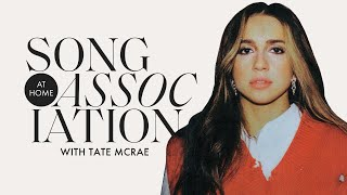 "Tate McRae Sings Bruno Mars, Bebe Rexha, & ""you broke me first"" in a Game of Song Association 