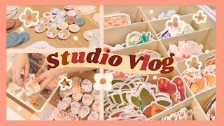 Studio Vlog ✿17: Taking Inventory, Shop Restock & Prepping for Inktober~