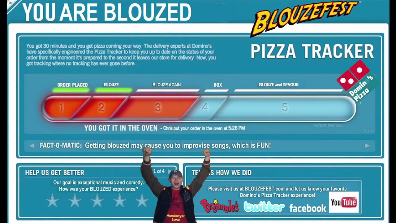 dominos order placement and pizza tracker feature Domino's has unveiled a radical plan to ensure that its pizza is eaten fresh — but there's a creepy catch in the first of its biannual abacus series of tech innovation events this morning.