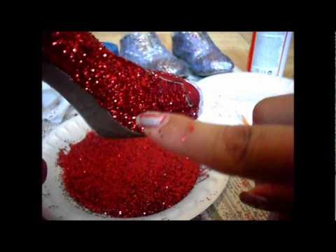 Como customizar zapatos con glitter 2da opcion youtube - Como empapelar una pared con gotele ...