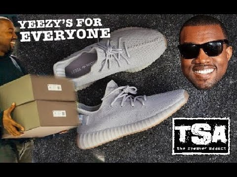 KANYE WEST ADIDAS YEEZY V2 350 TRIPLE WHITE SHOES FOR EVERYBODY - LARGEST RESTOCK RELEASE EVER!