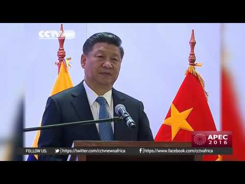 Chinese President Xi Jinping arrives in Lima