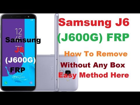 Samaung J6 (J600G) FRP Andriod 8 0 0 Without Any Box With