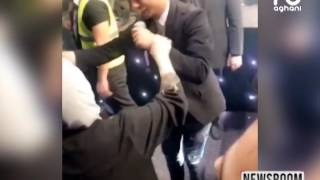محبوب العرب محمد عساف يراقص سيدة مسنة