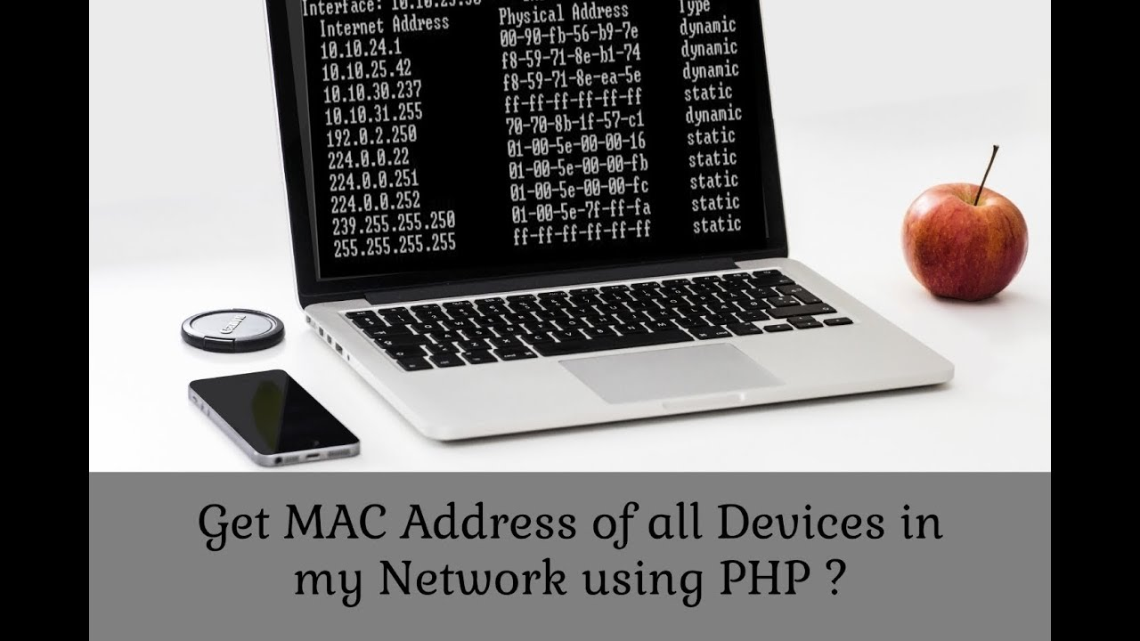 How to get MAC Address of all devices in my network using PHP