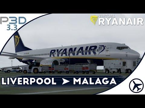 Flotando en tierras malagueñas | LPL - AGP | P3D 3.3 | Virtual Ryanair #14 [IVAO]