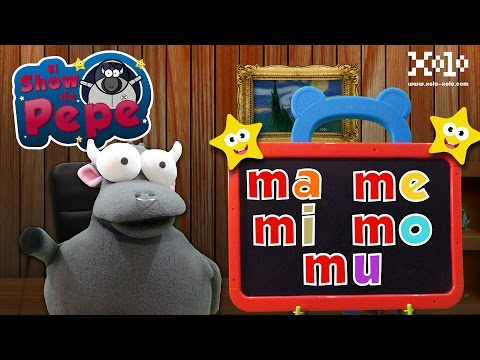 Syllables Ma Me My Mo Mu in Spanish | Pepe's show | Learn Videos