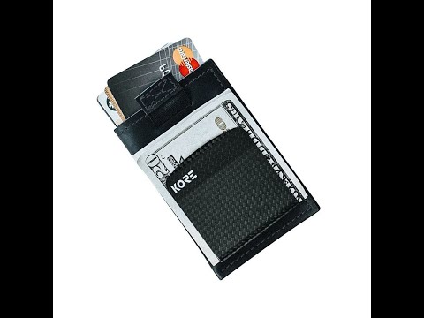 Kore Slim Wallet with integrated Carbon Fiber Money Clip