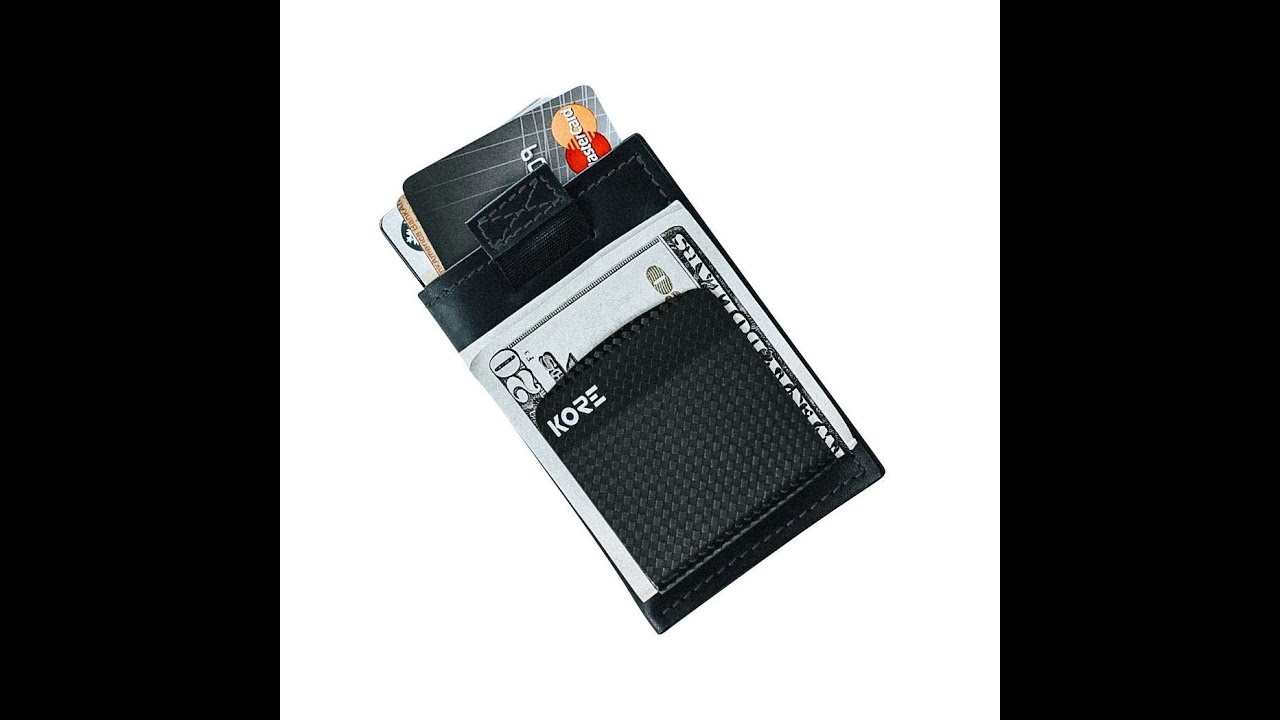 1a1f8fb4ac940 KORE Slim Wallet with integrated Carbon Fiber Money Clip - YouTube